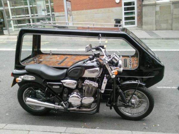 motorbike carriage hearse