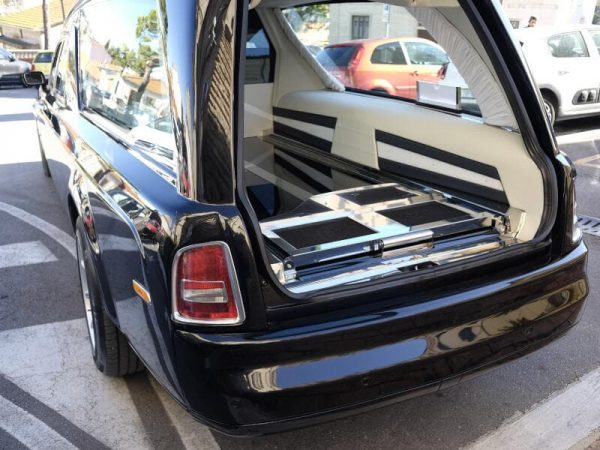Rear space of a hearse