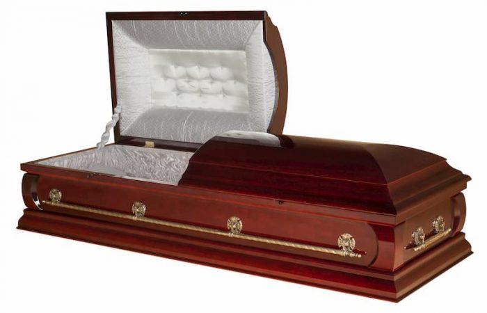 Wooden american style casket